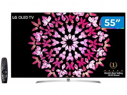 "Smart TV OLED 55"" LG 4K/Ultra HD OLED55B7P - Conversor Digital Wi-Fi 4 HDMI 3..."