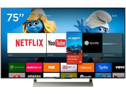 "Smart TV LED 75"" Sony 4K/Ultra HD XBR-75X905E - Conversor Digital Wi-Fi 4 HDMI..."