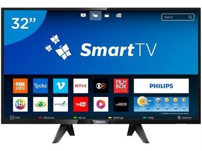 "Smart TV LED 32"" Philips 32PHG5102 - Conversor Digital 3 HDMI 2 USB"