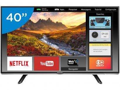 "Smart TV LED 40"" Panasonic Full HD TC-40DS600B - Wi-Fi 2 HDMI 1 USB"