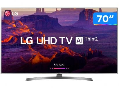 "Smart TV 4K LED 70"" LG 70UK6540 Wi-Fi HDR - Inteligência Artificial 4 HDMI 2 USB"