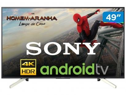 "Smart TV 4K LED 49"" Sony KD-49X755F Android - Wi-Fi HDR Conversor Digital 4..."