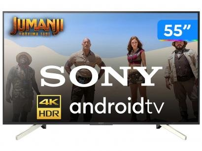 "Smart TV 4K LED 55"" Sony KD-55X755F Android - Wi-Fi HDR Conversor Digital 4..."