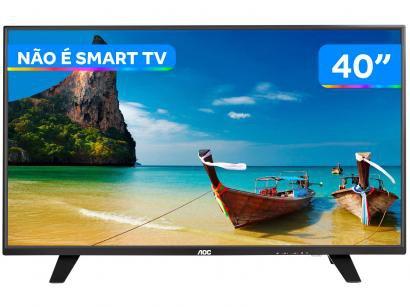 "TV LED 40"" AOC Full HD LE40F1465 - Conversor Digital 2 HDMI 1 USB DTV"