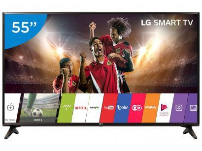 "Smart TV LED 55"" LG Full HD 55LJ5550 WebOS - Conversor Digital Wi-Fi 2 HDMI 1..."