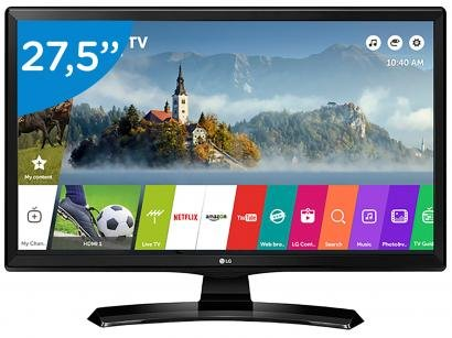 "Smart TV LED 27,5"" LG 28MT49S-PS Wi-Fi - Conversor Digital 2 HDMI 1 USB"