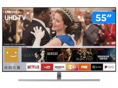"Smart TV QLED 55"" Samsung 4K/Ultra HD 55Q7FAM - Tizen Conversor Digital Wi-Fi 4..."