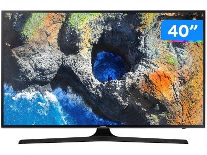 "Smart TV LED 40"" Samsung 4K/Ultra HD 40MU6100 - Tizen Conversor Digital Wi-Fi 3..."
