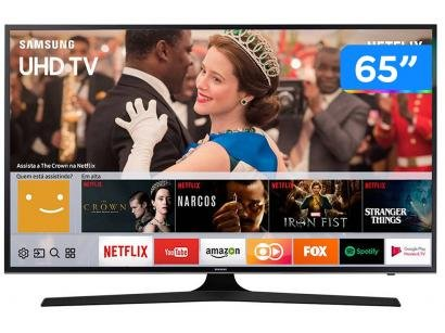 "Smart TV LED 65"" Samsung 4K/Ultra HD 65MU6100 - Tizen Conversor Digital Wi-Fi 3..."