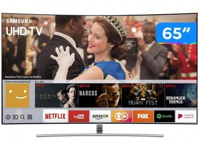 "Smart TV QLED Curva 65"" Samsung 4K/Ultra HD - QN65Q8CAMGXZD Conversor Digital 4..."