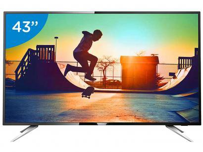 "Smart TV LED 43"" Philips 4K/Ultra HD 43PUG6102/78 - Conversor Digital Wi-Fi 4..."