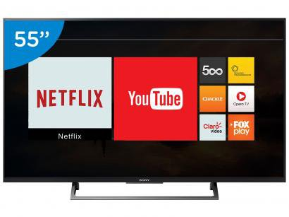 "Smart TV LED 55"" Sony 4K/Ultra HD KD-55X705E - Conversor Digital Wi-Fi 3 HDMI 3..."