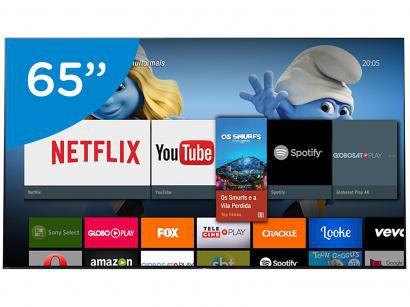 "Smart TV OLED 65"" Sony 4K/Ultra HD BRAVIA - XBR-65A1E Android Conversor Digital..."