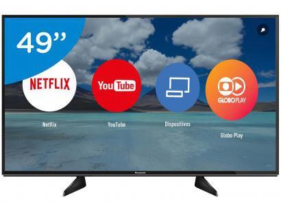 """Smart TV LED 49"""" Panasonic 4K/Ultra HD TC-49EX600B - Wi-Fi 3 HDMI 3 USB DLNA"""