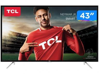 """Smart TV LED 43"""" TCL Full HD - L43S4900FS Conversor Digital Wi-Fi 3 HDMI 2 USB"""