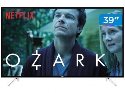 """Smart TV LED 39"""" TCL Full HD L39S4900FS - Conversor Digital Wi-Fi 3 HDMI 2 USB..."""