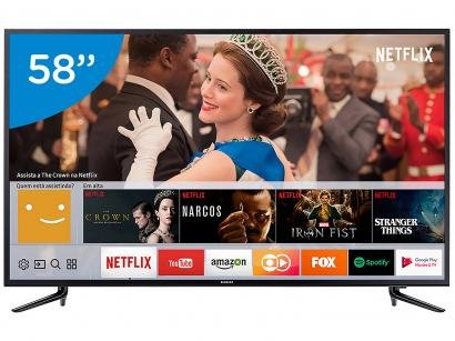 "Smart TV 4K LED 58"" Samsung 58MU6120 Wi-Fi - 3 HDMI 2 USB"