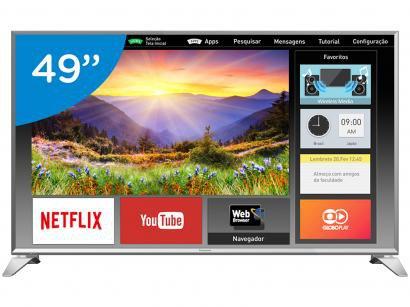 "Smart TV LED 49"" Panasonic Full HD Viera - TC-49ES630B Conversor Digital Wi-Fi..."