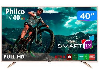 "Smart TV LED 40"" Philco Full HD PTV40E21DSWNC - Conversor Digital Wi-Fi 2 HDMI..."