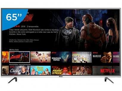 "Smart TV LED 65"" Philco 4K/Ultra HD PTV65F60DSWN - Conversor Digital Wi-Fi 3..."
