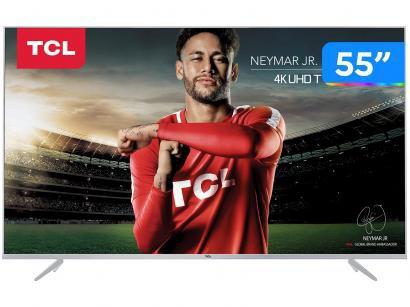 """Smart TV LED 55"""" TCL 4K/Ultra HD P6 - Conversor Digital Wi-Fi 3 HDMI 2 USB"""