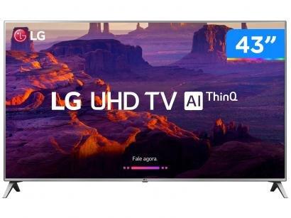 """Smart TV 4K LED 43"""" LG 43UK6520 Wi-Fi HDR - Inteligência Artificial Conversor..."""