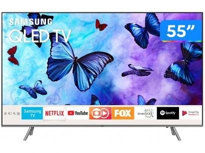 "Smart TV QLED 55"" Samsung 4K/Ultra HD Q6FN - Tizen Conversor Digital Modo..."