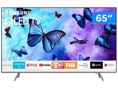 "Smart TV QLED 65"" Samsung 4K/Ultra HD Q6FN - Tizen Conversor Digital Modo..."
