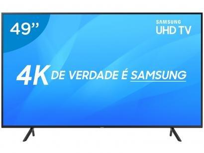 "Smart TV 4K LED 49"" Samsung NU7100 Wi-Fi HDR - Conversor Digital 3 HDMI 2 USB"