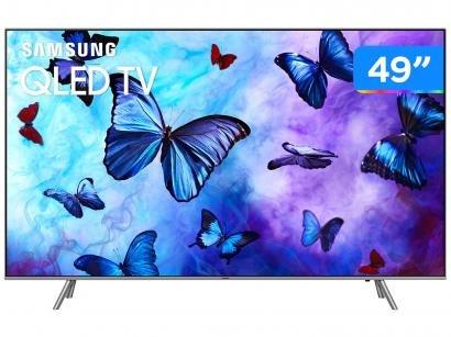 "Smart TV QLED 49"" Samsung 4K/Ultra HD - QN49Q6FNAGXZD Tizen Modo Ambiente Linha..."