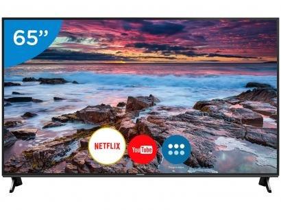 "Smart TV 4K LED 65"" Panasonic TC-65FX600B - Wi-Fi Conversor Digital 3 HDMI 3 USB"