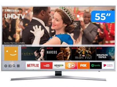"Smart TV 4K LED 55"" Samsung UN55MU6400GXZD - Wi-Fi Conversor Digital 3 HDMI 2..."