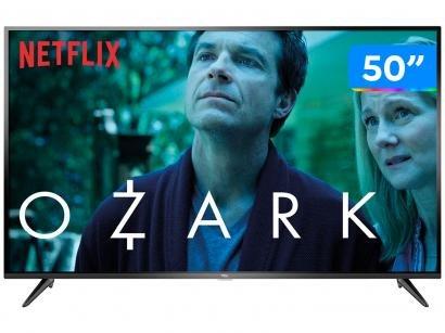 """Smart TV 4K LED 50"""" TCL P65US Wi-Fi HDR - Conversor Digital 3 HDMI 2 USB"""