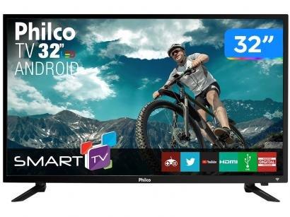 "Smart TV LED 32"" Philco PTV32N87SA Android - Wi-Fi Conversor Digital 2HDMI 2USB"
