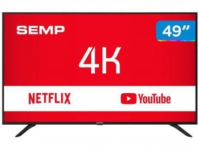 "Smart TV 4K LED 49"" Semp SK6000 Wi-Fi - Conversor Digital 3 HDMI USB"