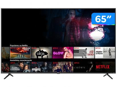 "Smart TV 4K LED 65"" Philco PTV65F80SNS - Wi-Fi HDR 3 HDMI 2 USB"