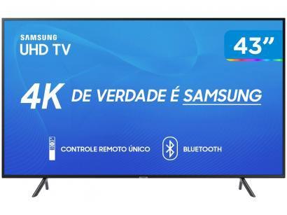 "Smart TV 4K LED 43"" Samsung UN43RU7100 Wi-Fi - HDR Inteligência Artificial..."