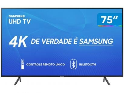 "Smart TV 4K LED 75"" Samsung UN75RU7100 Wi-Fi - HDR Conversor Digital 3 HDMI 2..."