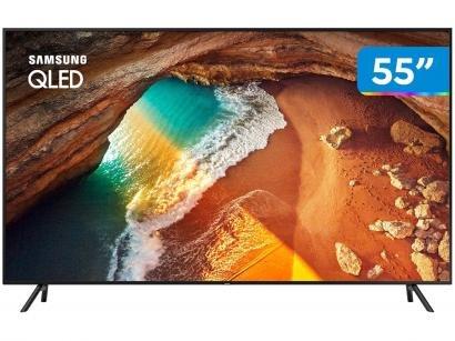 "Smart TV 4K QLED 55"" Samsung QN55Q60RAG Wi-Fi - HDR Conversor Digital 4 HDMI 2..."