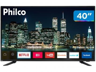 "Smart TV LED 40"" Philco PTV40E60SN Full HD - Wi-Fi Conversor Digital 03 HDMI 02..."