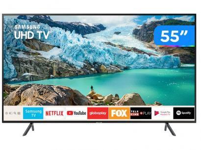 """Smart TV 4K LED 55"""" Samsung UN55RU7100GXZD - Wi-Fi Conversor Digital 3 HDMI 2..."""