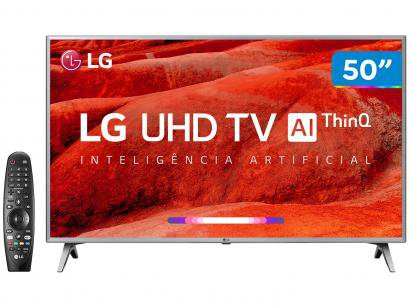 "Smart TV 4K LED 50"" LG 50UM7500 Wi-Fi - Inteligência Artificial Conversor..."