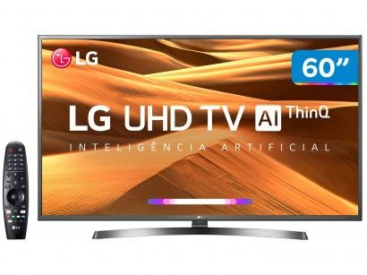 "Smart TV 4K LED 60"" LG 60UM7270PSA Wi-Fi HDR - Inteligência Artificial..."