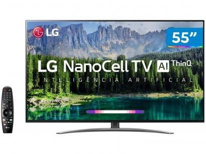 "Smart TV 4K NanoCell 55"" LG 55SM8600PSA Wi-Fi HDR - Inteligência Artificial..."