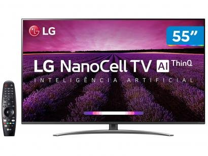 "Smart TV 4K NanoCell 55"" LG 55SM8100PSA Wi-Fi - Inteligência Artificial..."
