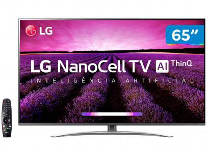 "Smart TV 4K NanoCell 65"" LG 65SM8100PSA Wi-Fi - Inteligência Artificial..."