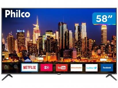 "Smart TV 4K LED 58"" Philco PTV58F60SN Wi-Fi - Conversor Digital 3 HDMI 2 USB"