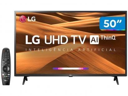 """Smart TV 4K LED 50"""" LG 50UM7360PSA Wi-Fi - Inteligência Artificial Controle..."""
