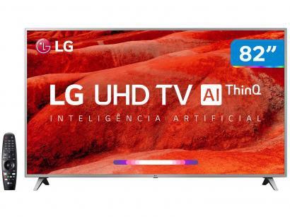 "Smart TV 4K LED 82"" LG 82UM7570PSB Wi-Fi - Inteligência Artificial Controle..."