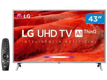 "Smart TV 4K LED 43"" LG 43UM7500PSB Wi-Fi - Inteligência Artificial Controle..."